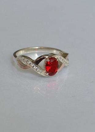 Кольцо серебряное с золотом 143к