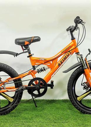 Горный детский велосипед со скоростями Azimut Blackmount 20 D