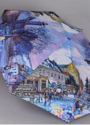 Зонтик женский magic rain 7251городские пейзажи полный автомат