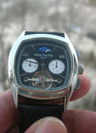 Часы Patek Philippe Silver Тurbilion Black