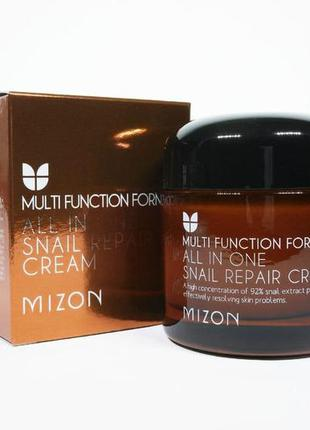 Восстанавливающий крем  mizon all in one snail repair cream 92...