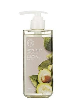 Гель для душа авокадо the face shop avocado body wash
