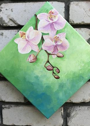 Картина интерьерная маслом Орхидея