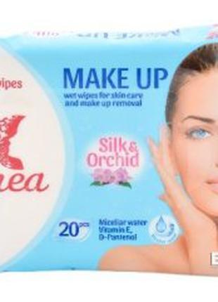 Салфетки влажные Linea для снятия макияжа Silk&Orchid 20 шт