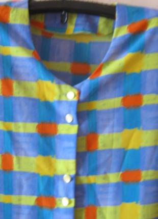 Блузка женская на пуговицах большой размер-56-58