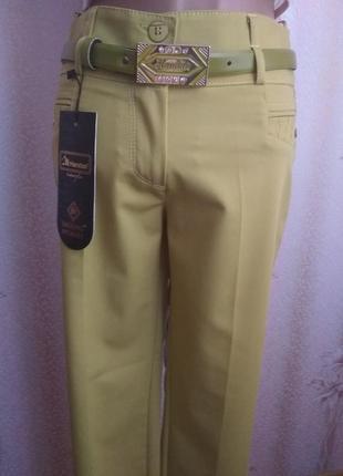 Мега стильные брюки женские,с ремешком,олива, р.40-42 и 46-48 ...