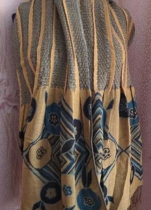 Пашмина палантин двусторонний - оригинальный дизайн, 180 на 70 см