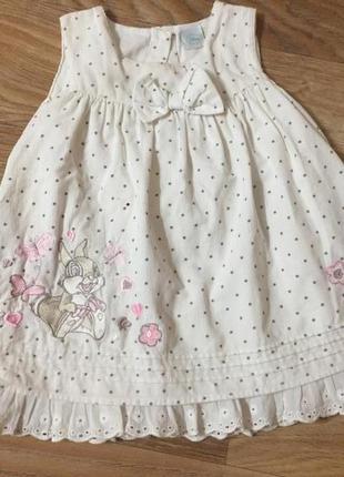 Платье летнее детское для девочки 1-2 года