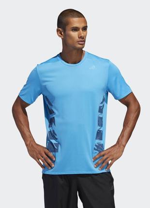 Футболка для бігу adidas supernova tee blue blue