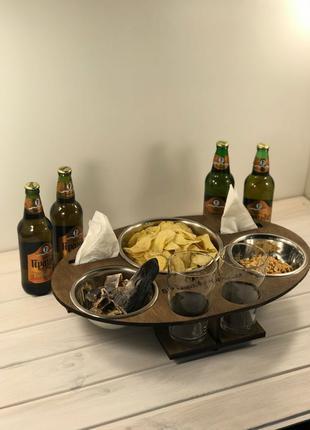 подставка для пива. органайзер. пивной стол пивний стіл
