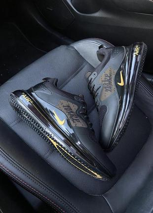 Nike air max 720 black gold.