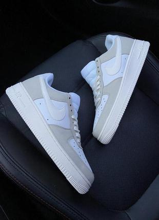 Nike air force 1 07 prm white beige.