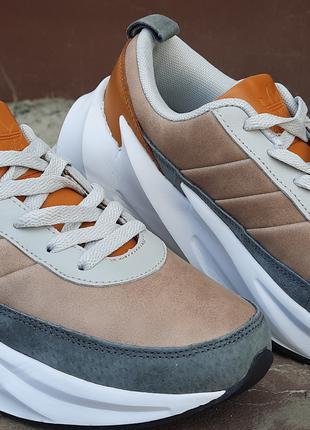 Акция на Шикарные женские кроссовки Adidas Sharks Brown/Grey