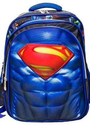 Детский рюкзак-чемодан 4 рисунка (Superman) Цвет Синий Код 5147