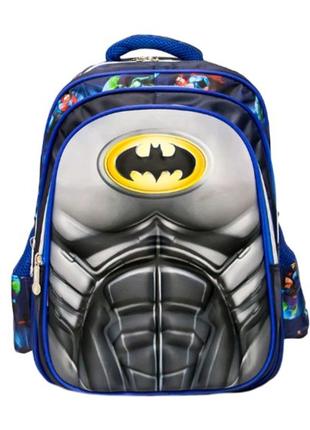 Детский рюкзак-чемодан 4 рисунка (Batman) Цвет Синий  Код 5147