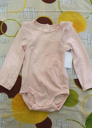 Новый детский набор для девочки. бодик и штанишки H&M