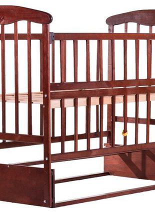 Кровать Наталка ОТМО маятник, откидной бок ольха темная