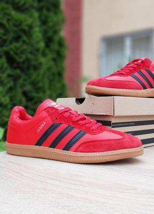 10228 Adidas Samba Красные мужские кеды кроссовки адидас кеди ...