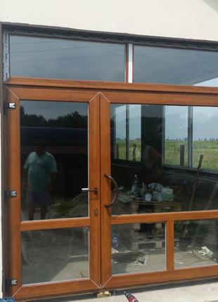 Металлопластиковые нестандартные конструкции окна / двери
