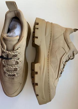В наличии! кроссовки, ботинки, тренд 2020 новая коллекция, беж...