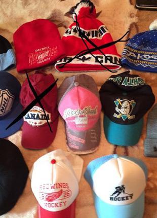 Шапки +1 подарок. варежки хоккей Канада бейсболка