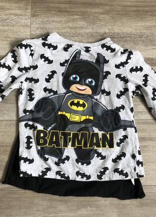 Футболка с плащом LEGO Batman 5-6 лет