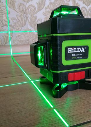 HILDA 4D/16ліній+ПУЛЬТ лазерний рівень, лазерный уровень, нивелир
