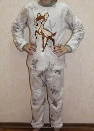 Пижама детская махровая с вышивкой