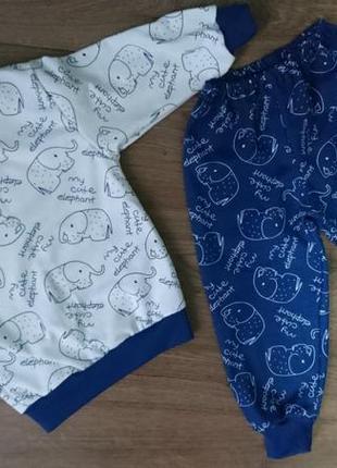 Пижама детская слоники