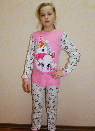 Красивая яркая пижама для девочки единорожки