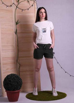 Женские летние шорты с пояском