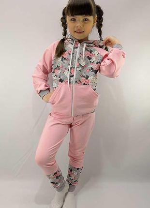 Детский костюм на молнии роза