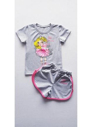 Комплект футболка и шорты на девочку