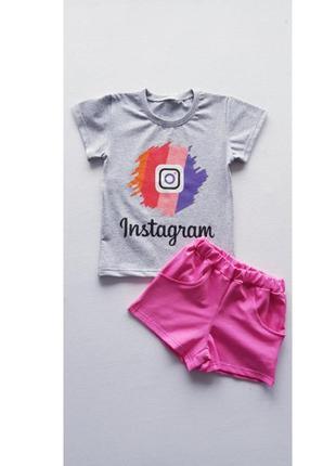 Комплект футболка и шорты instagram