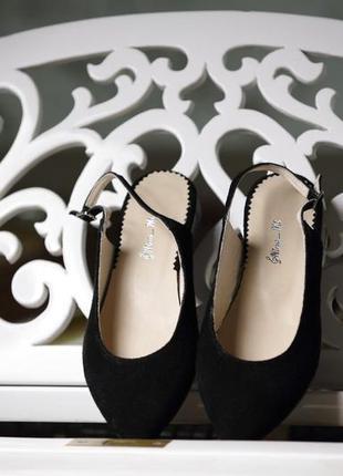 ❤ женские черные замшевые  мюли босоножки  туфли  ❤