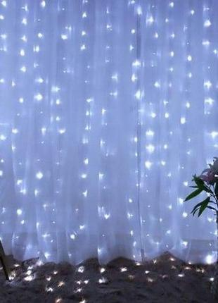 Гирлянда штора шторка 300 лампочек