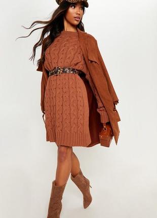 Платье свитер крупной вязки