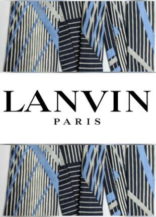 Шелковый галстук lanvin 100% шелк