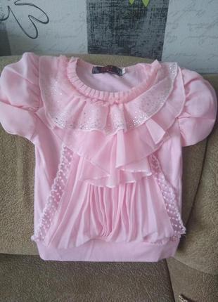 Блуза, блузка, блузочка, футболка нарядная, состояние новой