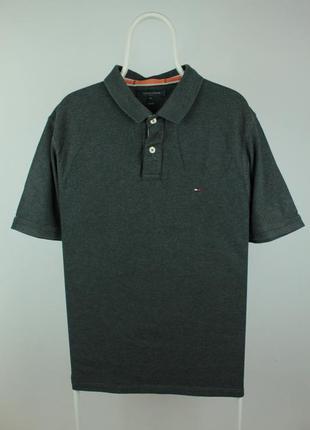 Оригинальное стильное поло tommy hilfiger slim fit polo t-shirt