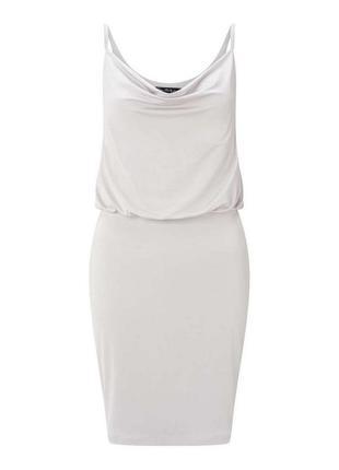 Актуальное платье комбинация на тонких бретелях №48max
