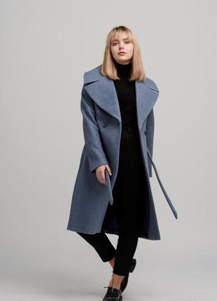 Осеннее женское пальто season жаклин-4 цвета лаванда