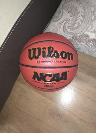 Баскетбольный мяч Wilson NCAA,силиконовое масло в ПОДАРОК!