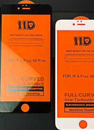 Защитное стекло 11D для iPhone айфон 6S/6+/7/7+/8/8+/X/XS/XS max/