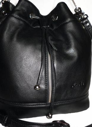 Стильная обьемная сумка из натуральной кожи aimee