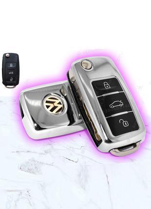 ТПУ хром чехол для ключа Volkswagen Skoda Seat чехлы на ключи