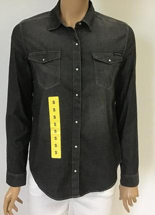 Джинсова  жіноча сорочка calvin klein jeans