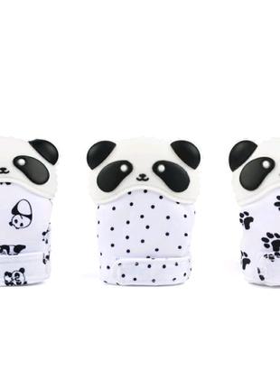 Перчатка Панда силиконовый прорезыватель для зубов