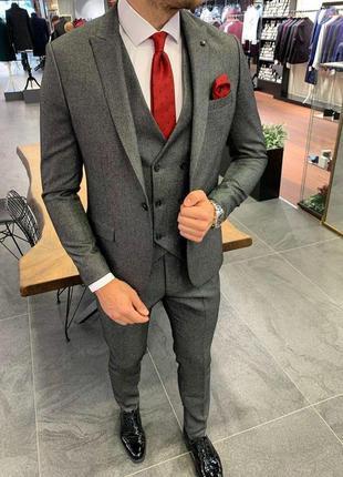 Костюм мужской тройка брюки пиджак жилетка