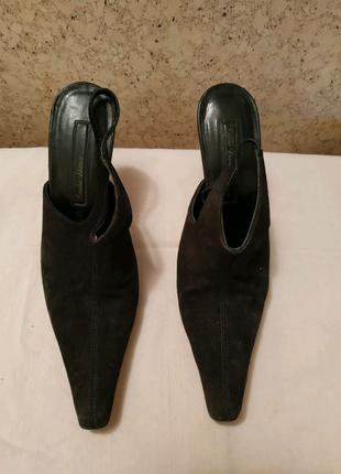 Женские кожаные замшевые туфли босоножки Италия